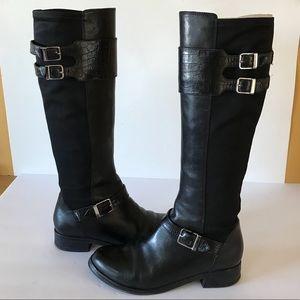 Cole Haan Tennley Buckle Knee High Boots 8B